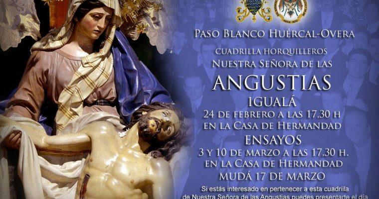 Igualá y calendario de ensayos de Nuestra Señora de las Angustias