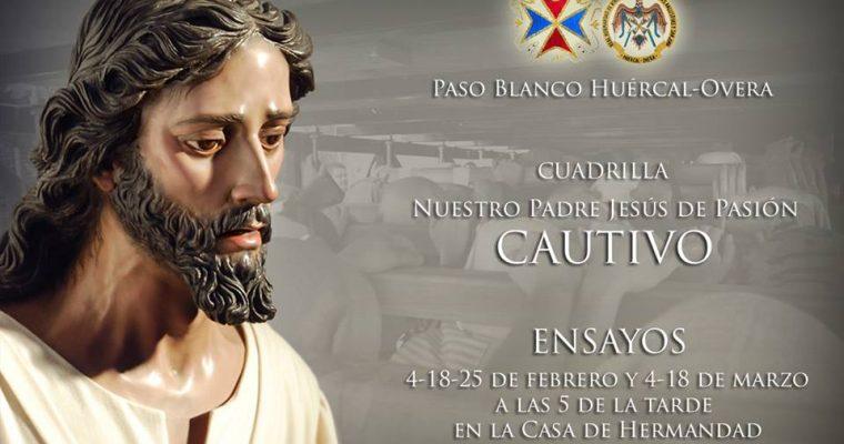 Igualá y calendario de ensayos de Nuestro Padre Jesús de Pasión Cautivo
