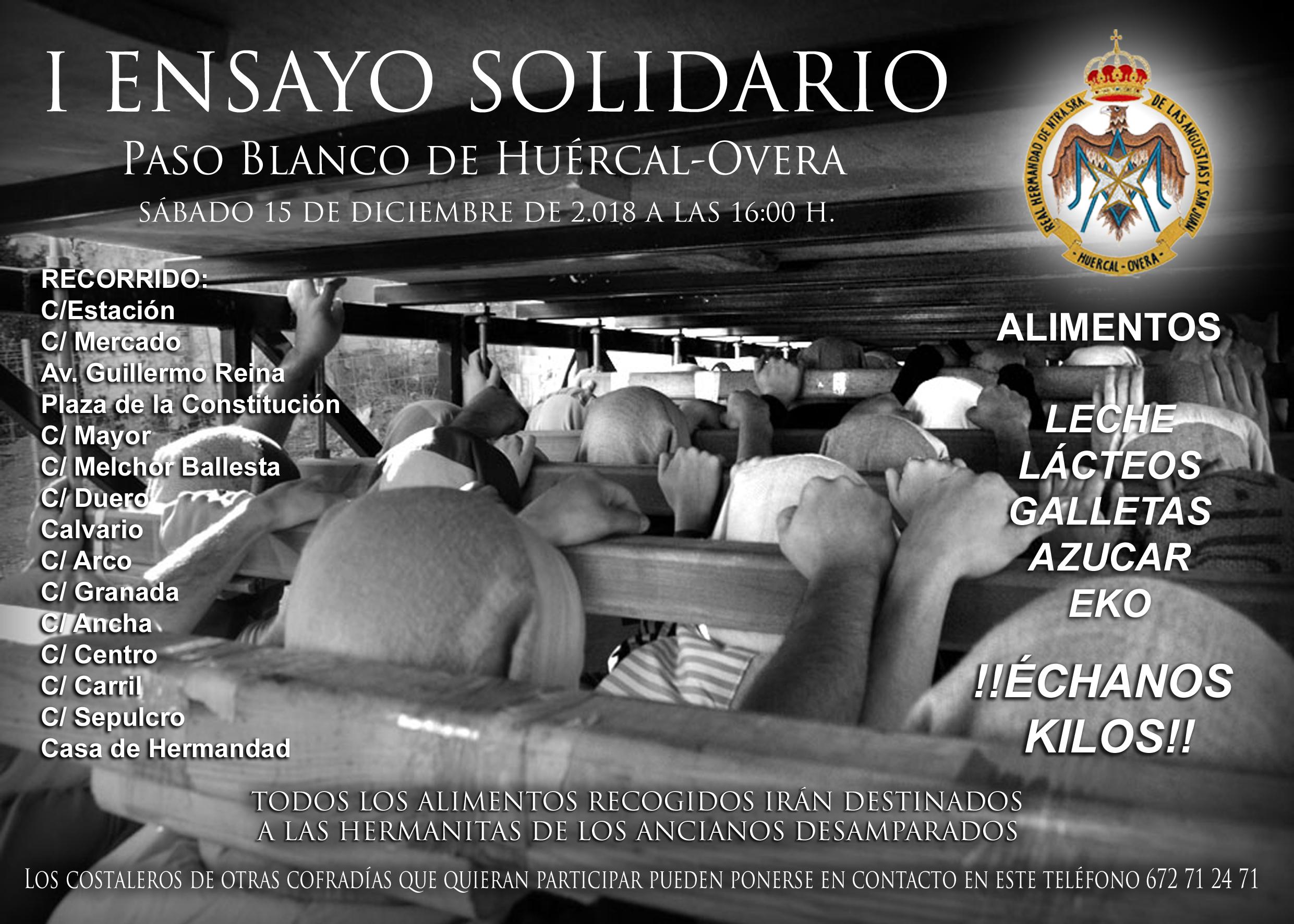 """I ENSAYO SOLIDARIO """"PASO BLANCO DE HUÉRCAL-OVERA """""""