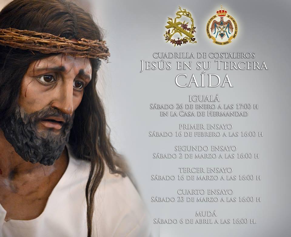 """CALENDARIO DE ENSAYOS DE LA CUADRILLA DE """"LA CAÍDA"""""""