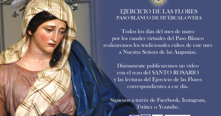 Cultos virtuales del mes de mayo en honor a Nuestra Señora de las Angustias
